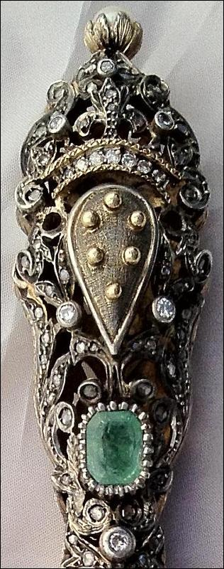 Magnificent Jeweled Medici Dagger, ca. 1840