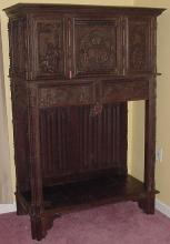 German 16th C Oak Livery Cupboard, Royal House of Hanover