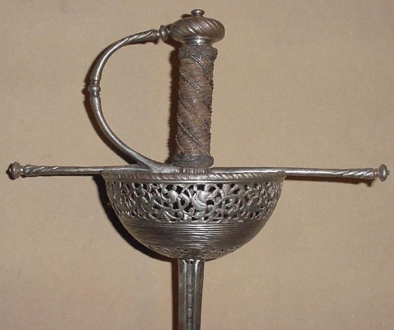 North Italian Chiseled and Pierced Cuphilt Rapier, ca. 1660