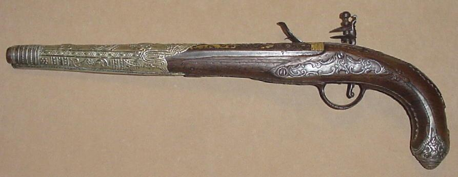 Italian Flintlock Pistol Made for the Eastern Market, Late 18th C