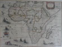 "Map: Jodocus Hondius Jr. ""Africae Nova Tabula"", Amsterdam 1619"