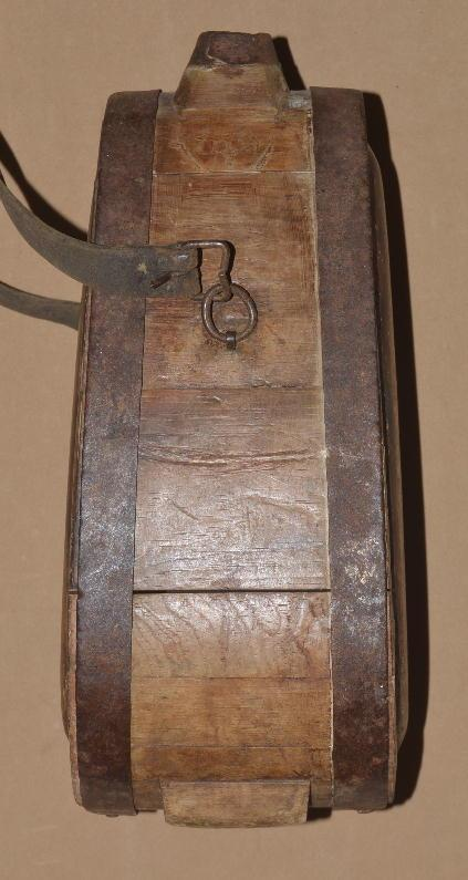 Scarce Revolutionary War Era Standing Wood Canteen