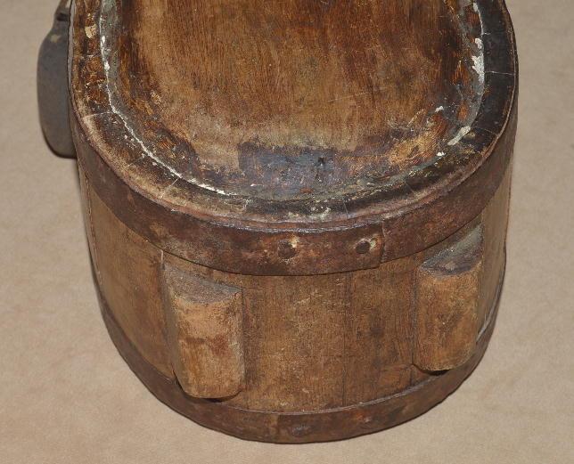 Scarce Revolutionary War Era Standing Wood Canteen