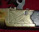 English Brass Barreled Flintlock Pocket Pistol, ca. 1820