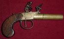 English Brass Barreled Flintlock Pocket Pistol, ca. 1810
