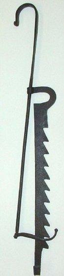 17th C English Iron Chimney Crane