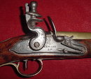 English Brass Barreled Coaching Pistol, ca. 1790