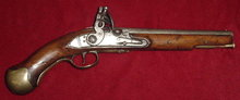 British Flintlock Sea Service Pistol, ca. 1780