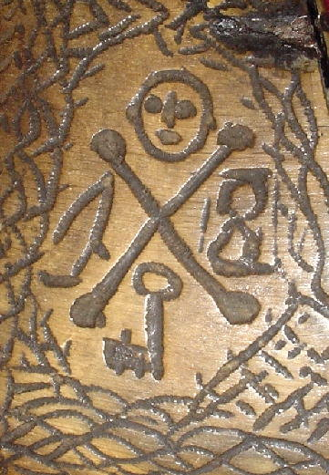 Rare Important Scottish Jacobite Powder Flask, Dated 1744