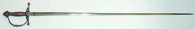 Italian Town Sword, Rapier, ca. 1640