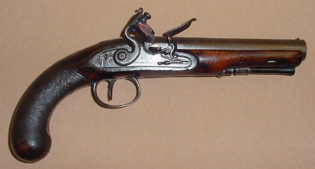 English Flintlock Officer's Pistol, ca. 1810