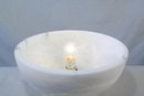 Art Deco Alabaster Sphere Lamp Globe Lighting