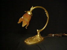 Brass  and 24K Gold Plated Lamp/Flower Lamp