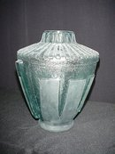 Daum Style Small Pale Blue Vase