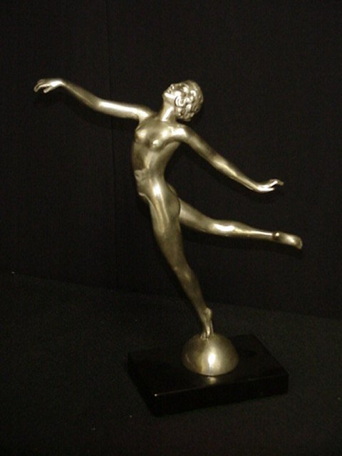 Art Deco Bronze Figurine/ Dancer Grace