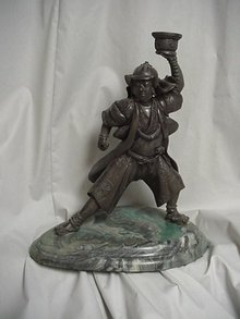 Samurai Warrior Bronze Figurine