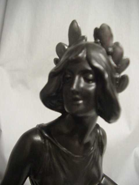 Antique Scholar and Painter Girl Sculpture
