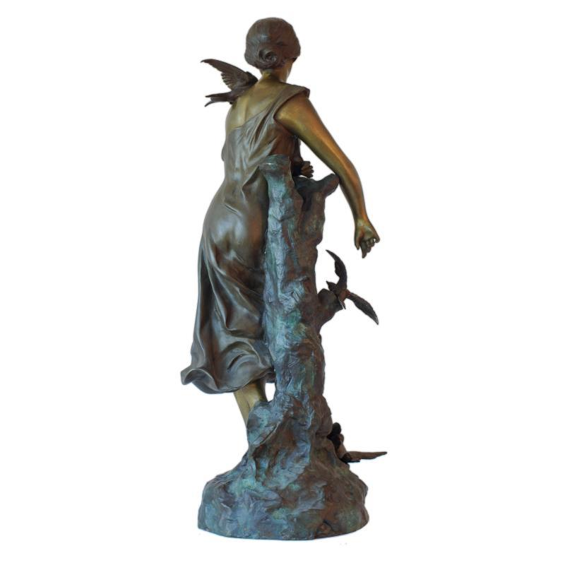 Antique Art Nouveau Bronze Sculpture