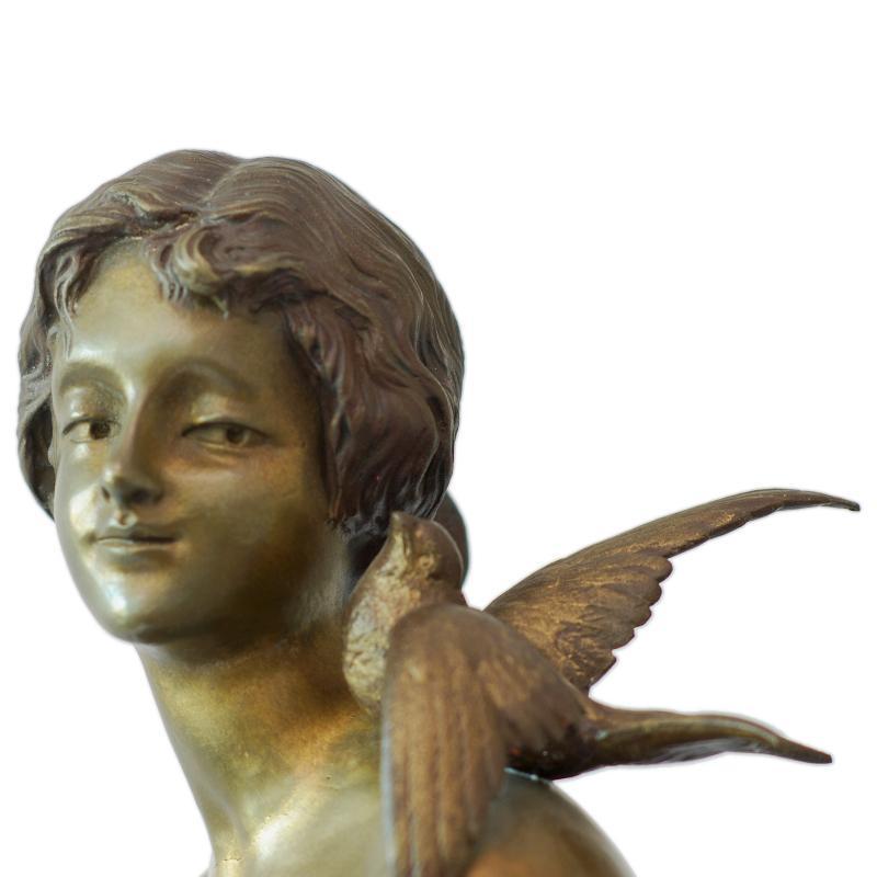 Antique Art Nouveau Bronze Sculpture