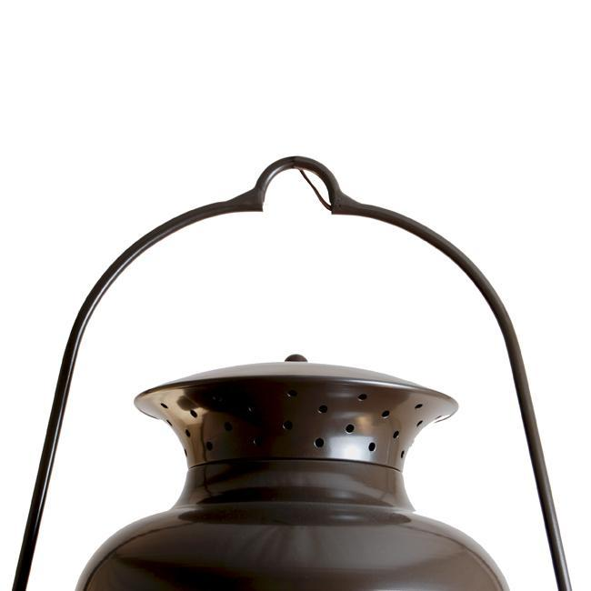 Large Hanging Six Faceted Ayden Lantern with Vented Double-Dome Top
