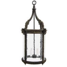 Achantus Leaf English Cast Bronze Lantern Chandelier