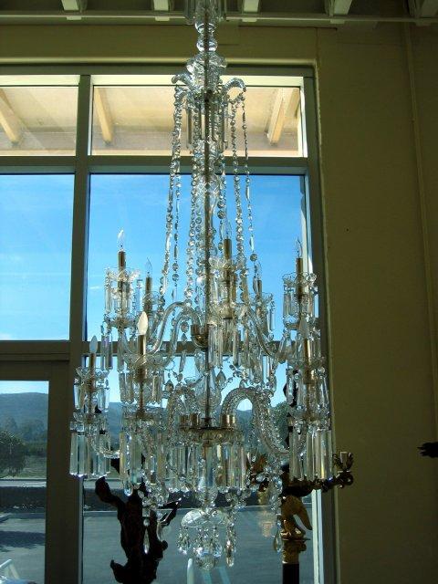 Large Vintage European Style Crystal Chandelier