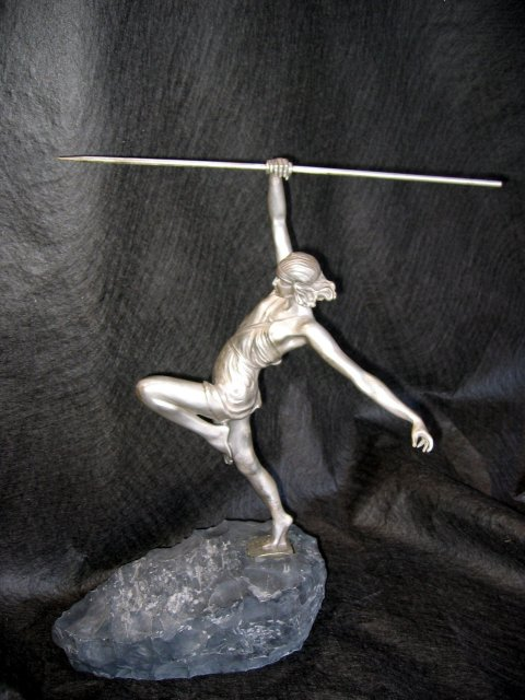 Silver Figurine The Amazon Girl