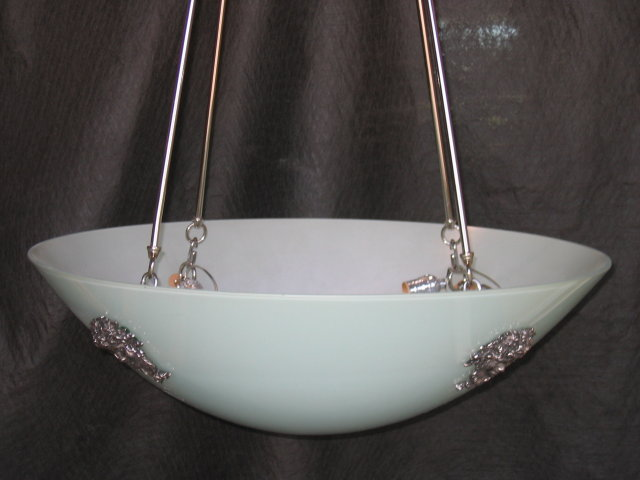 Lg Glass Bowl Chandelier