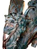 Antique Dragon Wall Sconces Bronze