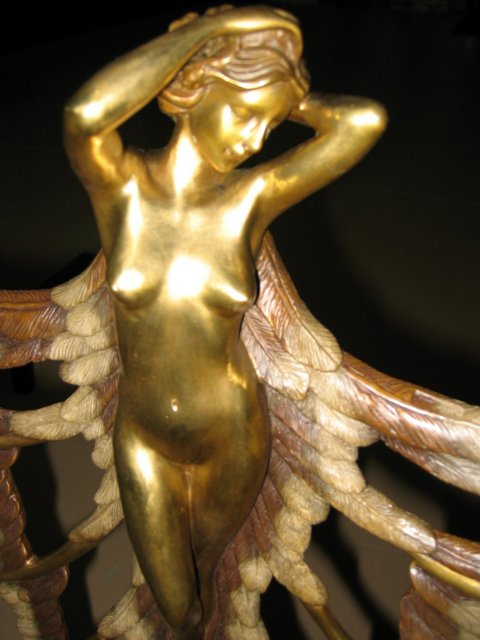 Nude Lady Fireplace Andirons