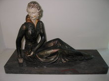 Girl W/Bird Spelter/Marble