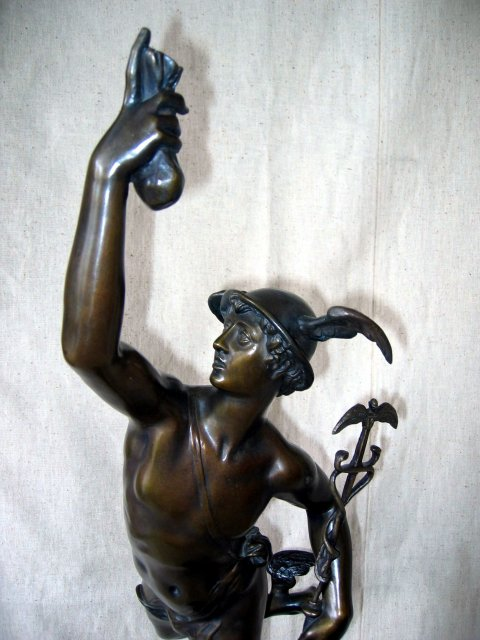 Mercury Bronze Figurine