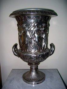 Neo Classical Urn Bronze Silvered & Antiqued