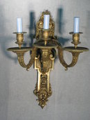 3 Arm Wall Sconce Dore Gold