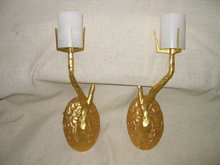 Felix Agostini Style Single Arm 24k Dore Bronze Sconce