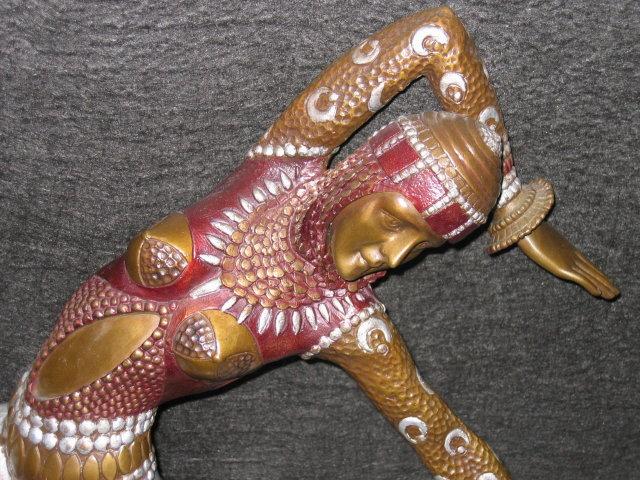 Art Deco Bronze Sculpture Karmorna by DH Chiparus