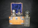 English Decanter lead Crystal Bottles