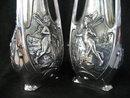 Art Nouveau Vases Silver Signed