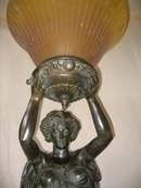 Lg Newel Post Lady Figurine Floor Lamp