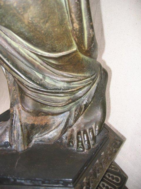 Lg Newel Post Lady Figurine Floor Lamp