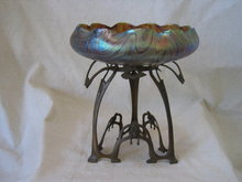 Antique Art Nouveau Loetz Glass Bowl Centerpiece