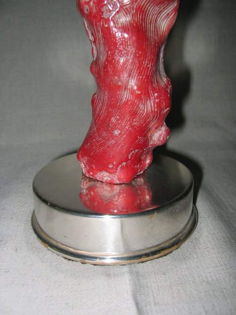 Single Arm Red Coral on Silver Box