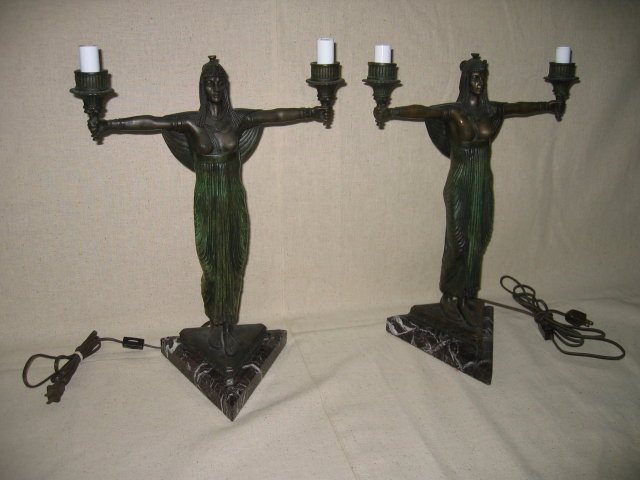 Egyptian Girl Candelabras