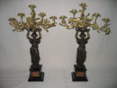 Dore Gold Lady Candelabras
