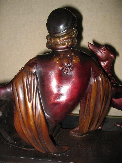 Art Deco Elegantly Seated Desdemona Bronze