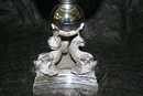 Dolphin Rock Crystal Stand Polished Nickel