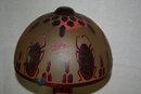 Egyptian Scrab Art Glass Table Lamp