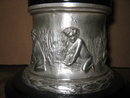 Moreau Bronze Sculpture - Pixy Girl Playing with Violin in Antique Silver