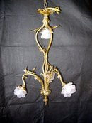 Glass Rose Shade Chandelier