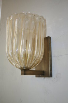 Italian Glass Gold Wall Sconce